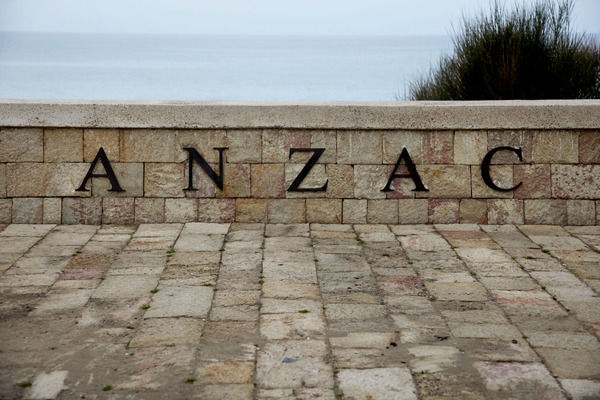 A general view of the Anzac Commemorative Site, North Beach, on the Gallipoli peninsula, Turkey