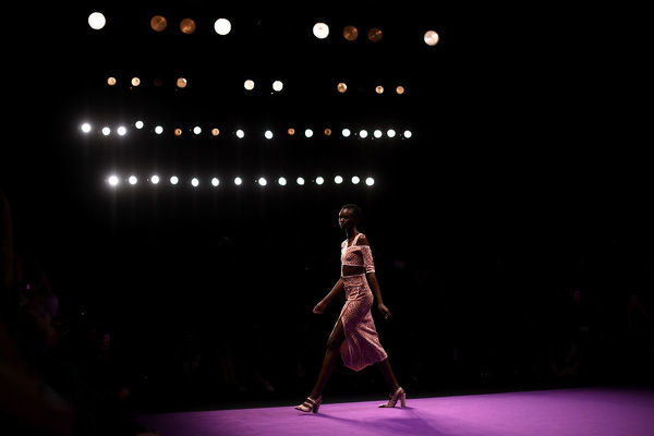 A model wears a creation by Alice McCall during the Mercedes-Benz Fashion Week Australia in Sydney, Monday, May 14, 2018. (AAP Image/David Moir), EDITORIAL USE ONLY