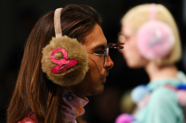 A model wears a creation by ZRD during the FDS: The Innovators show during the Mercedes-Benz Fashion Week Australia in Sydney, Wednesday, May 16, 2018. (AAP Image/David Moir), EDITORIAL USE ONLY