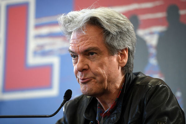 Don Walker of Australian rock band Cold Chisel speaks during a press conference at Bondi Pavilion in Sydney, Wednesday, October 9, 2019. The band has announced they will embark on a summer tour of Australia and New Zealand playing at outdoor venues