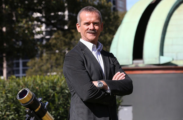 Canadian astronaut Colonel Chris Hadfield poses for a photograph at the Sydney Observatory