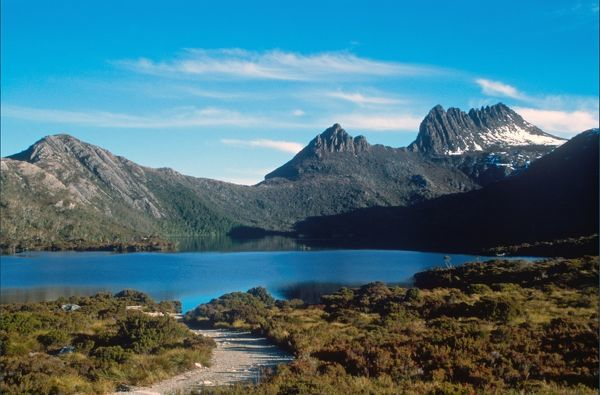 ADDITIONAL RATES MAY APPLY FOR USE OF IMAGE. An undated photo of a clear day at Cradle Mountain, Tasmania, Australia. (AAP Image/Simon Woodcock)