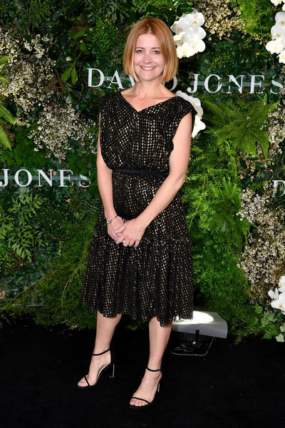 Harpers Bazaar outgoing Editor Kellie Hush arrives at the David Jones Spring Summer 2018 Collections Launch, in Sydney, Wednesday, August 8, 2018. (AAP Image/Joel Carrett)