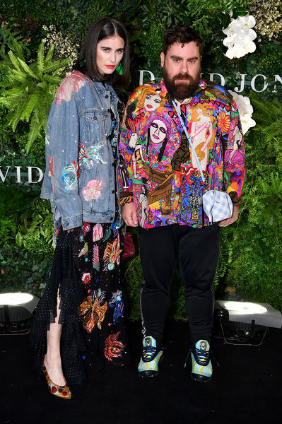 Romance Was Born designers Anna Plunkett and Luke Sales arrive at the David Jones Spring Summer 2018 Collections Launch, in Sydney, Wednesday, August 8, 2018. (AAP Image/Joel Carrett)