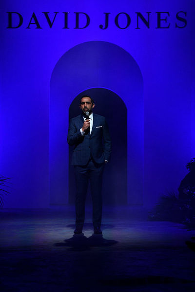 David Jones ambassador Adam Goodes delivers the Welcome to Country ahead of the David Jones Spring Summer 2018 Collections Launch, in Sydney, Wednesday, August 8, 2018. (AAP Image/Dan Himbrechts)