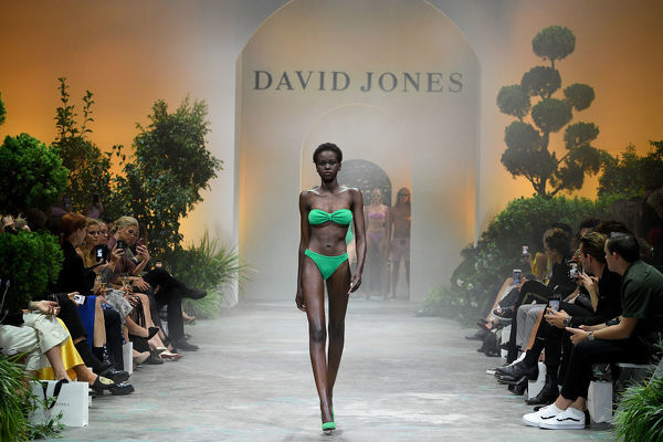 Australian model Adut Akech walks the runway during the David Jones Spring Summer 2018 Collections Launch, in Sydney, Wednesday, August 8, 2018. (AAP Image/Dan Himbrechts)