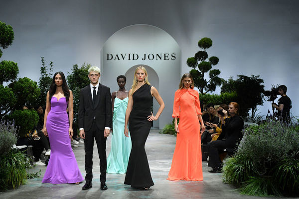 (L-R) Australian model Jessica Gomes, American model Anwar Hadid, Australian model Adut Akech, Czech Republic model Karolina Kurkova and Australian model Victoria Lee walk the runway during the David Jones Spring Summer 2018 Collections Launch rehearsal