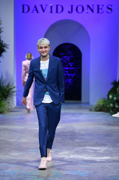 American model Anwar Hadid walks the runway during the David Jones Spring Summer 2018 Collections Launch rehearsal, in Sydney, Wednesday, August 8, 2018. (AAP Image/Dan Himbrechts)
