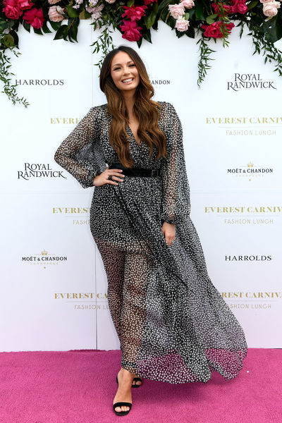 Australian singer Ricki-Lee Coulter poses for a photograph during the inaugural Everest Carnival Fashion Lunch at Royal Randwick Racecourse in Sydney, Thursday, October 10, 2019. (AAP Image/Bianca De Marchi) NO ARCHIVING