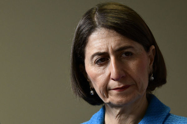 NSW Premier Gladys Berejiklian is seen during a press conference at the NSW Rural Fire Service Headquarters, Sydney Olympic Park, Saturday, September 7, 2019. NSW is battling a series of bushfires. (AAP Image/Bianca De Marchi)