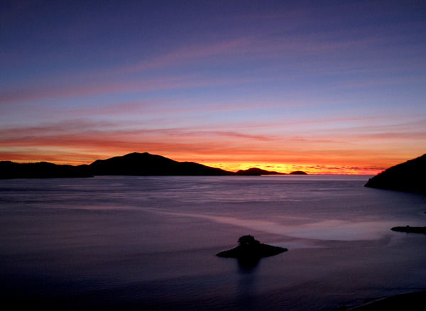 Sunrise over Hamilton Island