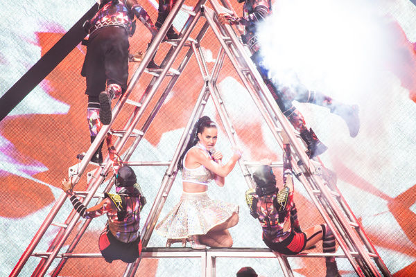 Katy Perry Concert. Katy Perry performs at Rod Laver Arena in Melbourne