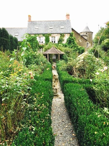 The English Garden in the grounds of the manoir house at Porte Du Roche, Brittany, France. (AAP Image/Liza Kappelle)