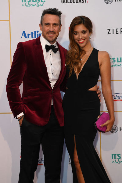Leigh Carseldine and Kristy Best arrive at the 2018 Logie Awards at The Star Casino on the Gold Coast, Sunday, July 1, 2018. (AAP Image/Dan Peled), EDITORIAL USE ONLY