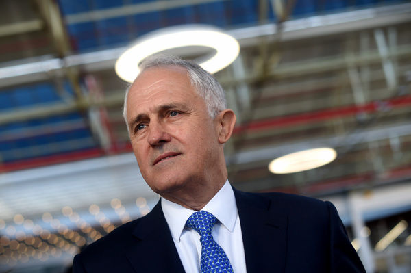 Australian Prime Minister Malcolm Turnbull is seen during an event at Flinders University in Adelaide