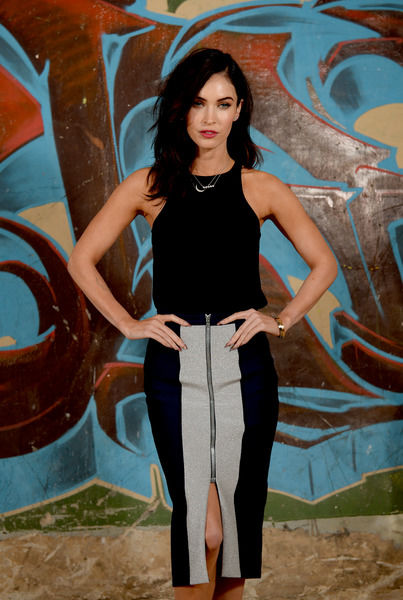 American actor Megan Fox poses for photographs during a photo call to promote the film Teenage Mutant Ninja Turtles, in Sydney