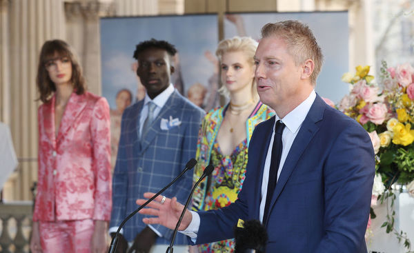 Melbourne Acting Lord Mayor Arron Wood speaks during the announcement of this year's Melbourne Fashion Week program in Melbourne, Thursday, July 12, 2018
