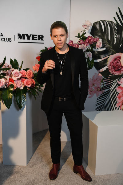Singer Conrad Sewell poses for a photograph during the Myer Spring Fashion Lunch at Flemington Racecourse, Melbourne, Wednesday, September 12, 2018. (AAP Image/James Ross)