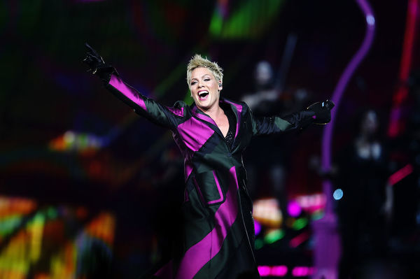 American singer Pink performs her Beautiful Trauma World Tour, at Qudos Bank Arena, in Sydney, Saturday, August 11, 2018. Pink will perform in Perth, Adelaide, Melbourne, Sydney and Brisbane during a 35-date Australian tour. (AAP Image/Brendon Thorne)