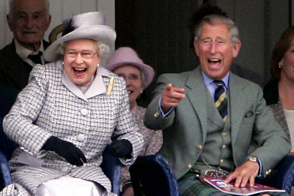 Britain's Queen Elizabeth II and her son, the Prince of Wales attend the Braemar Highland Games at the Princess Royal and Duke of Fife Memorial Park, Aberdeenshire