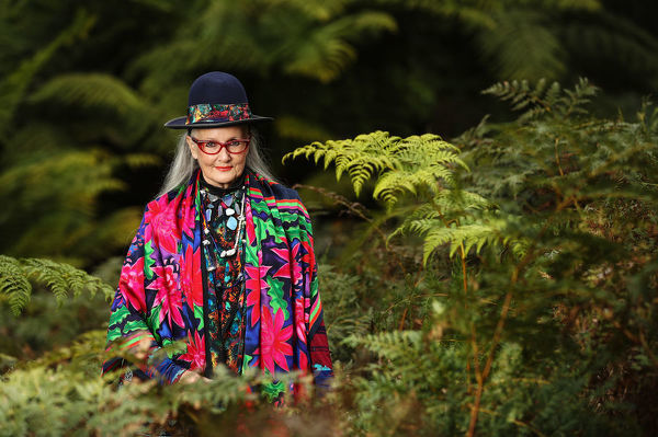 ** ALL INFORMATION CONTAINED HERE IS STRICTLY EMBARGOED UNTIL 0001 AEST ON MONDAY, JUNE 11 **  Fashion designer Linda Jackson poses for a photograph in the Blue Mountains, Friday, June 8, 2018. Jackson has been awarded the Member of the Order of Australia