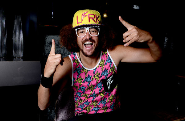 Pop star Redfoo poses for a photograph at the Gambaro Hotel in Brisbane