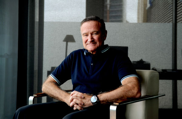 American actor and comedian Robin Williams poses for photographs in Sydney