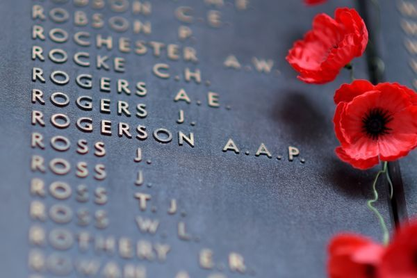 The names of WWI veterans can be seen on the Roll of Honour at the War Memorial in Canberra