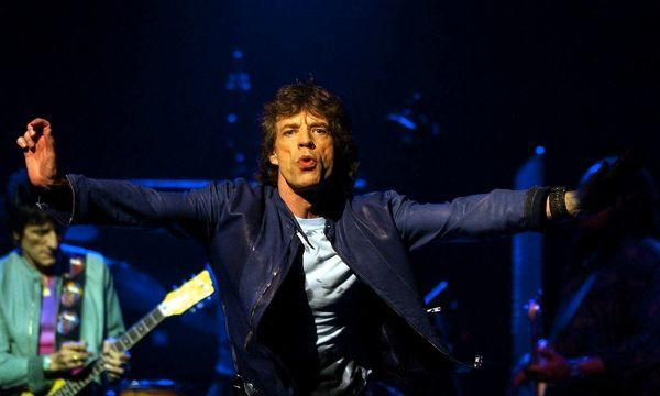 Mick Jagger, front man for the Rolling Stones, performing at the Enmore Theatre in Newtown as part of their 40 Licks Tour