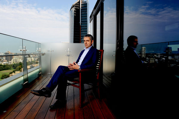 British comedian Rowan Atkinson poses for photographs in Sydney