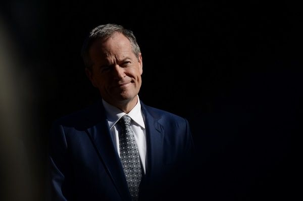 Leader of the Opposition Bill Shorten at a press conference after a visit to a medical centre during the 2016 election campaign in Mount Druitt in Sydney