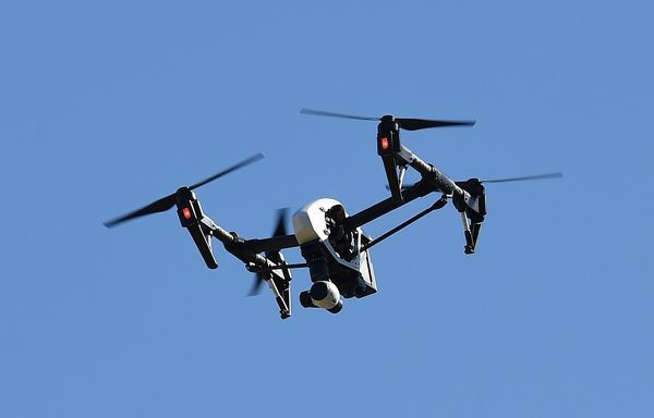 A stock image of an aerial drone in Brisbane