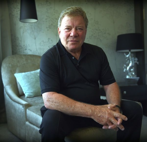 American actor William Shatner poses for photos in Brisbane. (AAP Image/Dan Peled)