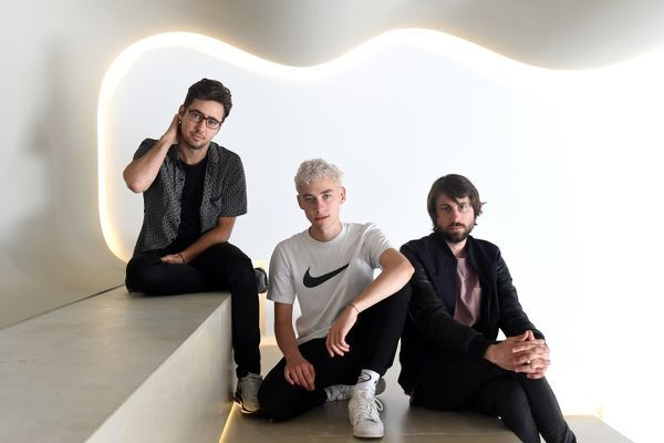 Members of the British electronica band Years and Years, (L to R) Emre Turkmen, Olly Alexander and Mikey Goldsworthy, pose for a photograph in Sydney