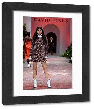 Australian model Jessica Gomes walks the runway during the David Jones Spring Summer 2018 Collections Launch, in Sydney, Wednesday, August 8, 2018. (AAP Image/Dan Himbrechts)