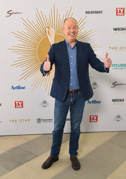 Tom Gleeson is seen posing for a photograph at the TV Week Logie Awards Nomination Party at The Star Casino on the Gold Coast, Sunday, May 26, 2019. The 61st TV Week Logie Awards will be held on the Gold Coast on Sunday, June 30