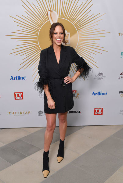 Bonnie Anderson is seen posing for a photograph at the TV Week Logie Awards Nomination Party at The Star Casino on the Gold Coast, Sunday, May 26, 2019. The 61st TV Week Logie Awards will be held on the Gold Coast on Sunday, June 30