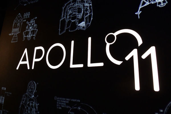 Exhibition space of the Apollo 11 Exhibition is seen at the Powerhouse Museum in Sydney, Wednesday, July 17, 2019. Showcasing over 200 objects, Apollo 11 commemorates the 50th Anniversary of the Moon landing. (AAP Image/Bianca De Marchi)
