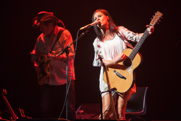 Kasey Chambers and Bill Chambers perform at the Forum Theatre in Melbourne