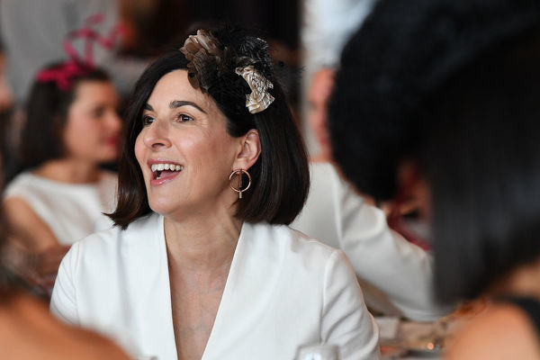 Attendees are seen during the Myer Spring Fashion Lunch at Flemington Racecourse, Melbourne, Wednesday, September 12, 2018. (AAP Image/James Ross)