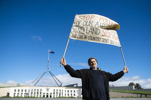 weather/anti adani protest canberra