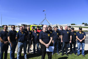 weather/canberra fire fighters union rally